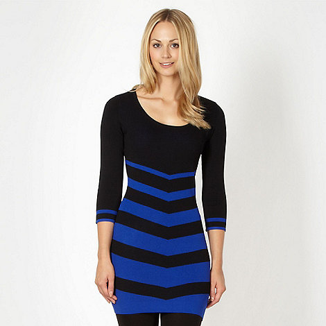 Star by Julien Macdonald - Designer black chevron knit dress