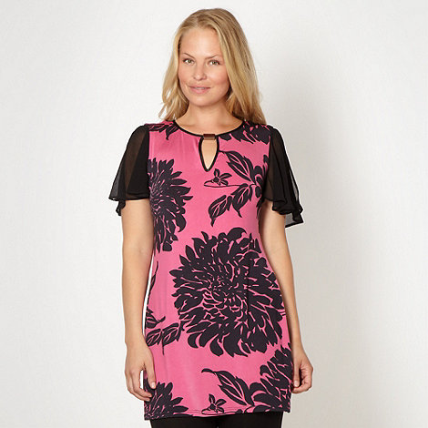 Star by Julien Macdonald - Designer bright pink oriental flower tunic