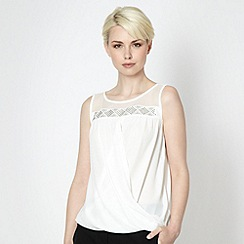 Star by Julien Macdonald - Designer ivory aztec split top
