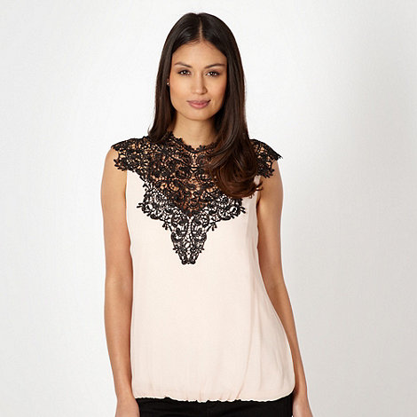 Star by Julien Macdonald - Designer light pink lace neck top