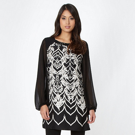 Star by Julien Macdonald - Designer black scroll tunic