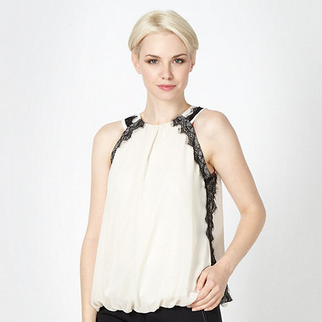Star by Julien Macdonald - Designer ivory lace trim top
