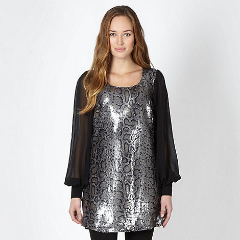 Star by Julien Macdonald - Designer black sequin tunic