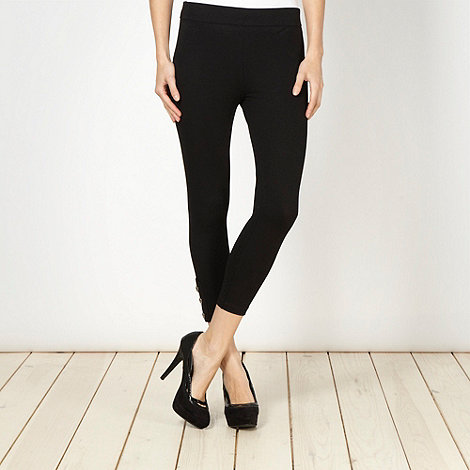 Star by Julien Macdonald - Designer black cropped leggings