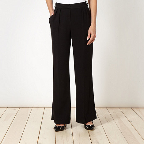 Star by Julien Macdonald - Designer black matte trousers