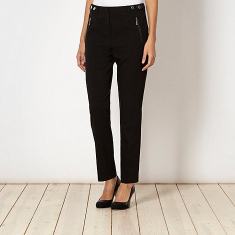 Star by Julien Macdonald - Designer black PU trim trousers