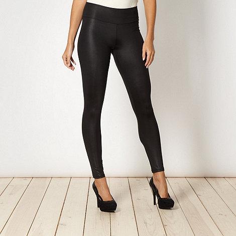 Star by Julien Macdonald - Designer black wet look leggings