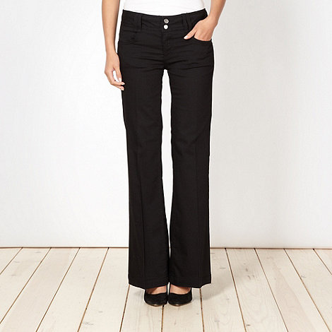Star by Julien Macdonald - Designer black soft wide leg jeans