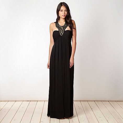 Star by Julien Macdonald - Designer black embellished neck maxi dress