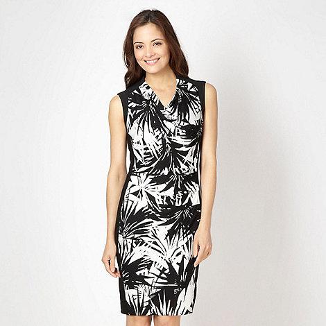 Star by Julien Macdonald - Designer black palm jersey dress