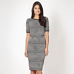 Star by Julien MacDonald - Designer black checked zip detail shift dress
