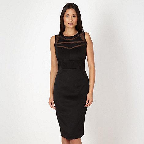 Star by Julien Macdonald - Designer black mesh insert bodycon dress
