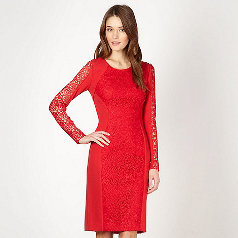 Star by Julien Macdonald - Designer red lace dress