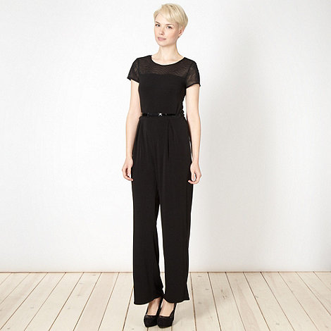 Star by Julien Macdonald - Designer black belted jersey jumpsuit