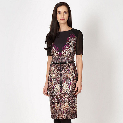 Star by Julien Macdonald - Designer black jewel print belted dress