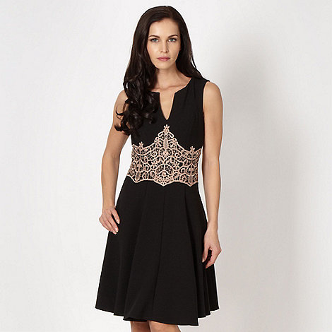 Star by Julien Macdonald - Designer black lace waist prom dress
