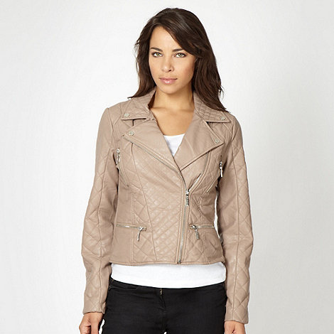 Star by Julien Macdonald - Designer natural quilted biker jacket