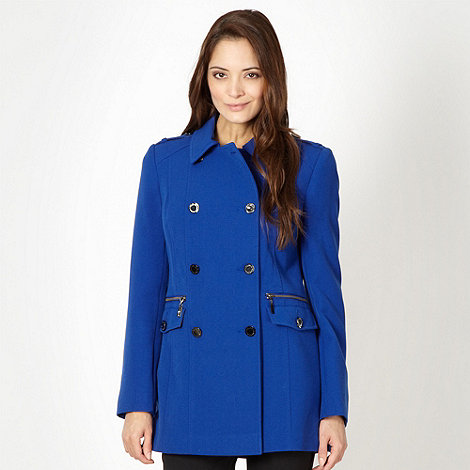 Star by Julien Macdonald - Designer blue double breasted coat