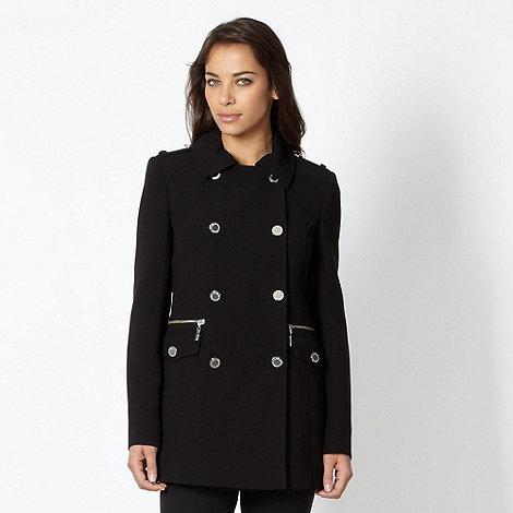 Star by Julien Macdonald - Designer black longline reefer jacket