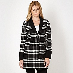 Star by Julien MacDonald - Designer black checked single breasted coat