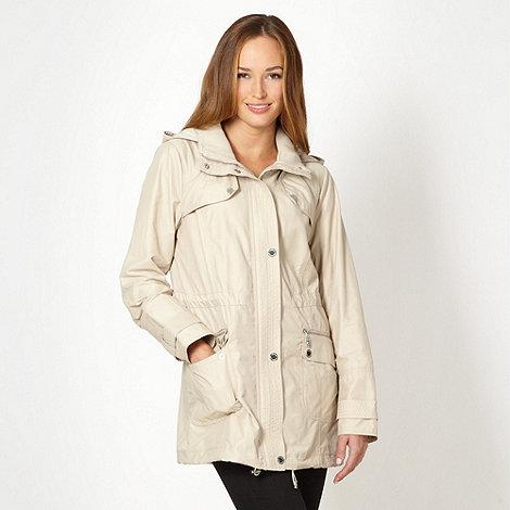 Star by Julien Macdonald - Designer natural ribbed collar parka jacket