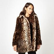 Designer natural faux fur animal coat