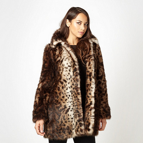 Star by Julien Macdonald - Designer natural faux fur animal coat