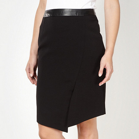Star by Julien Macdonald - Designer black wrap front skirt