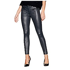 Star by Julien Macdonald - Silver snakeskin-effect skinny jeans