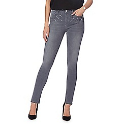 Star by Julien Macdonald - Grey embellished pocket skinny jeans