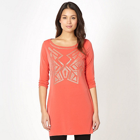 Star by Julien Macdonald - Designer orange studded tunic