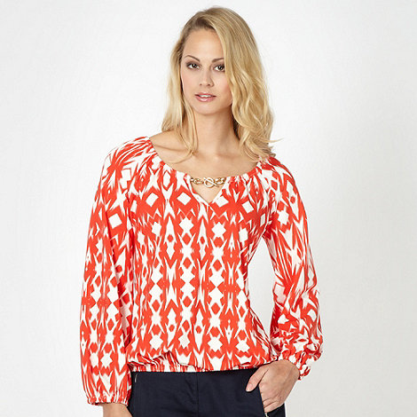 Star by Julien Macdonald - Designer orange geometric chain top