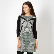 Designer pale green ornamental printed tunic