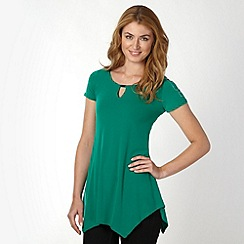 Star by Julien Macdonald - Designer green studded shoulder hanky hem top