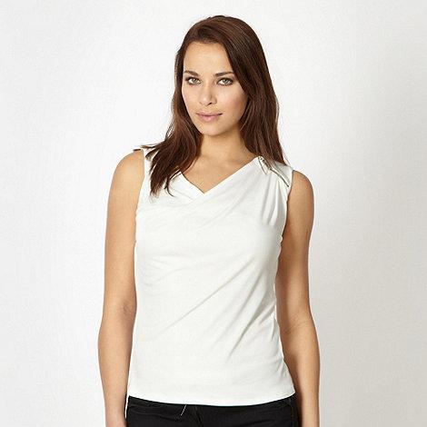 Star by Julien Macdonald - Designer cream zip shoulder top