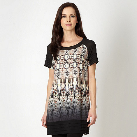 Star by Julien Macdonald - Designer black snake pattern chiffon tunic
