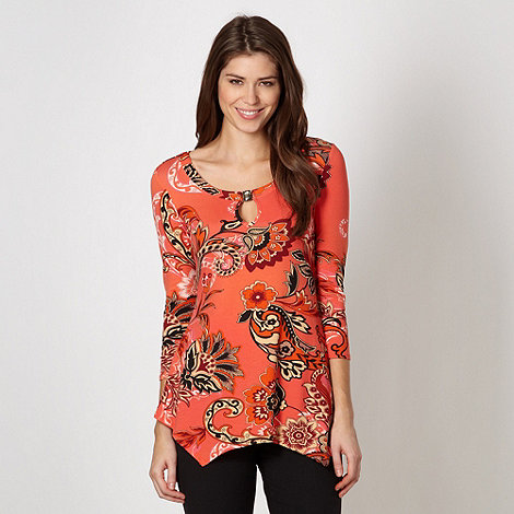 Star by Julien Macdonald - Designer orange paisley embellished top