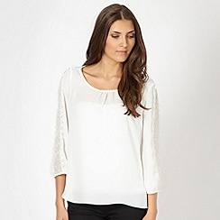 Star by Julien Macdonald - Designer white chiffon crochet blouse