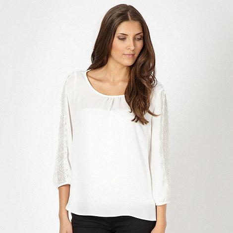 Star by Julien Macdonald - Designer white chiffon crochet blouse