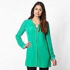 Star by Julien MacDonald - Designer bright green chain trim shirt