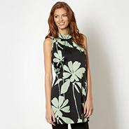 Designer green floral satin tunic