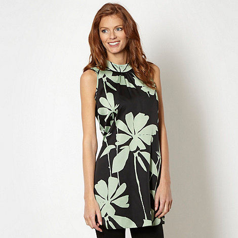 Star by Julien Macdonald - Designer green floral satin tunic