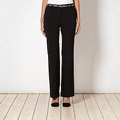 Star by Julien Macdonald - Designer black belted kick flare trousers