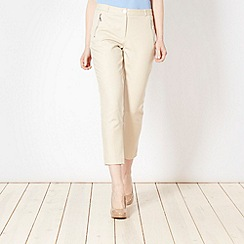 Star by Julien Macdonald - Designer natural zipped crop trousers