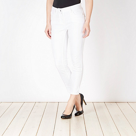 Star by Julien Macdonald - Designer white cropped jeans