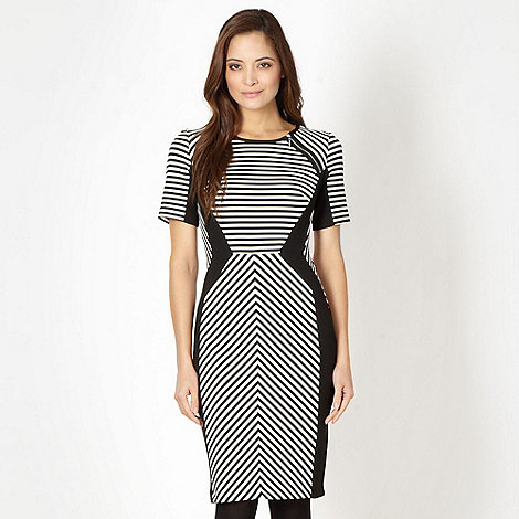 Star by Julien Macdonald - Designer black striped bodycon dress