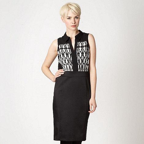 Star by Julien Macdonald - Designer black ikat 2 in 1 dress