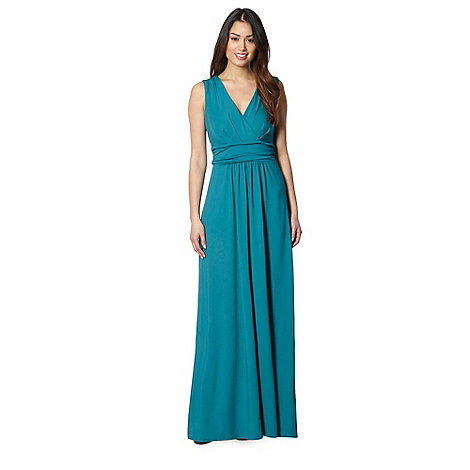 Star by Julien MacDonald - Designer dark turquoise jersey maxi dress