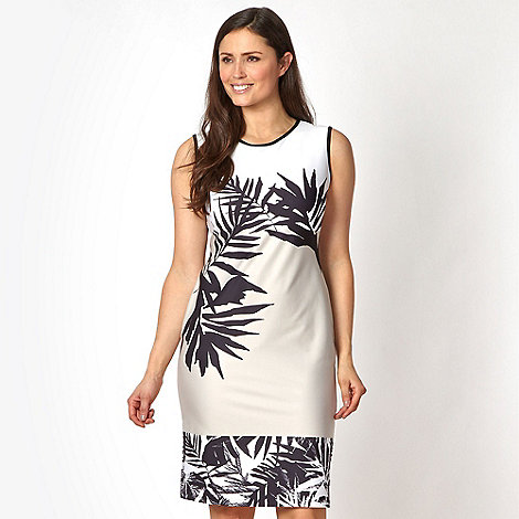 Star by Julien Macdonald - Designer ivory palm print dress