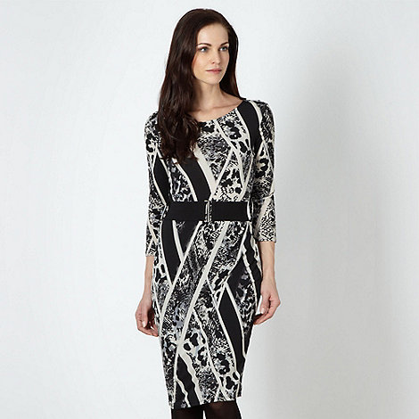Star by Julien Macdonald - Designer black animal print dress